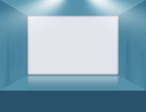 A Big White Flat Screen on 3D Space Stage Concept Series 126 Stock Photography