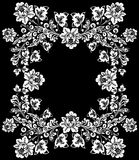 Big white flower frame Royalty Free Stock Photography
