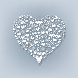 Big white heart. Cut paper Royalty Free Stock Images