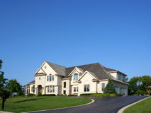Big white house. Big white american house and sky Royalty Free Stock Image