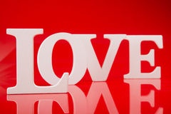 Big white letters love Royalty Free Stock Photos