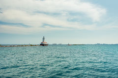 Big light house on a Michigan Lake Royalty Free Stock Photography