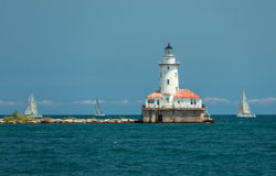 Big light house on a Michigan Lake Royalty Free Stock Images