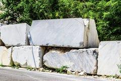 Big white marble blocks Stock Photos