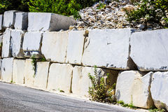 Big white marble blocks Royalty Free Stock Photo