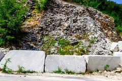 Big white marble blocks Stock Images