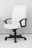 Big white office leather armchair for chief Royalty Free Stock Images