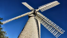 Big white old mill. Close to old Jerusalem royalty free stock photography
