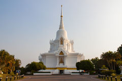 Big white pagoda Thailand Stock Image