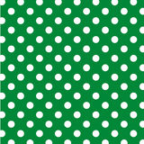 Big White Polka Dots on Green, Seamless Royalty Free Stock Photo
