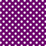 Big White Polka Dots on Purple, Seamless Royalty Free Stock Images