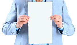 Big white poster. Stock Photos