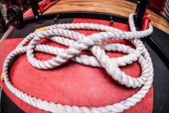 Big white rope Royalty Free Stock Photos