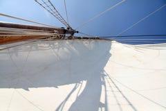 Big white sail Stock Photos