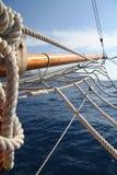 Big white sail Stock Image