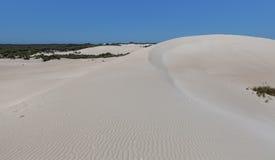 Big white sand dune - Little Sahara, Kangaroo Island, South Aust Royalty Free Stock Image