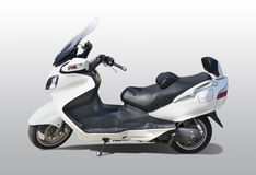 Big white scooter. Big white luxury scooter Stock Image