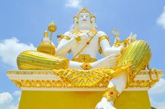 big white statue of brahma Royalty Free Stock Photo