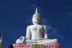 Big white statue buddha Royalty Free Stock Photo