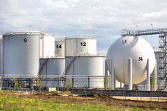 Big White Storage Tanks Stock Images