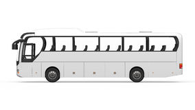 Big White Tour Bus Royalty Free Stock Image