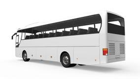 Big White Tour Bus Stock Images