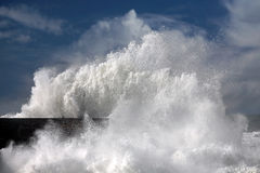 Big white wave Royalty Free Stock Image