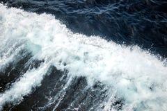 White waves on deep blue ocean. Big white waves on deep blue ocean Royalty Free Stock Photos