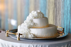Big white wedding cake Royalty Free Stock Image