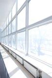 Big White Window. Empty Room with Big White Windows and radiators Stock Images