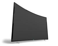 Big wide black TV set Royalty Free Stock Image