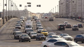 Big wide road, very busy traffic of cars. Timelapse. stock video