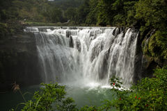 Big and wide Shifen Waterfall in Taiwan Stock Photography