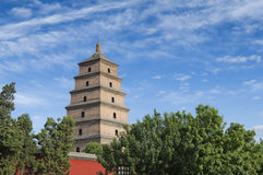 Big Wild Goose Pagoda Stock Photos