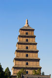 Big wild goose pagoda Royalty Free Stock Photos