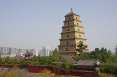 Big Wild Goose Pagoda Royalty Free Stock Photo