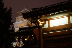 The Big Wild Goose Pagoda Xi`an royalty free stock image