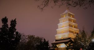 The Big Wild Goose Pagoda Xi`an royalty free stock photo