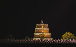 Big wild goose pagoda Stock Images