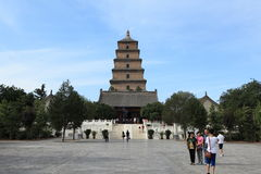 The Big Wild Goose Pagoda of Xian Stock Photo