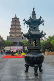 Big Wild Goose Pagoda in Xian royalty free stock images