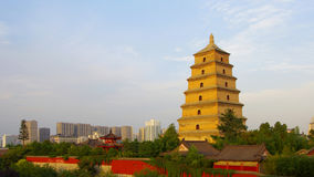Big Wild Goose Pagoda in Xian, Shaanxi Province Royalty Free Stock Photo