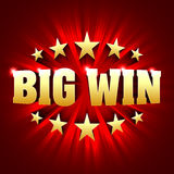Big Win banner background for lottery or casino games Royalty Free Stock Images