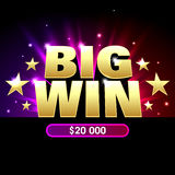 Big Win banner Royalty Free Stock Photography