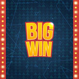 Big Win banner. Stock Images