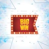 Big Win banner. Royalty Free Stock Image
