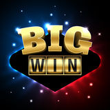 Big Win casino banner Royalty Free Stock Photos