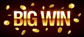 Big Win gambling games banner Stock Image