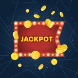 Big win jackpot concept. Casino jackpot. Lucky, success, financial growth. Royalty Free Stock Photo