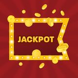 Big win jackpot concept. Casino jackpot. Lucky, success, financial growth. Royalty Free Stock Photography
